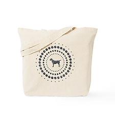 Dog Chrome Studs Tote Bag