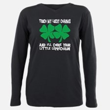 Unique Kiss me irish Plus Size Long Sleeve Tee