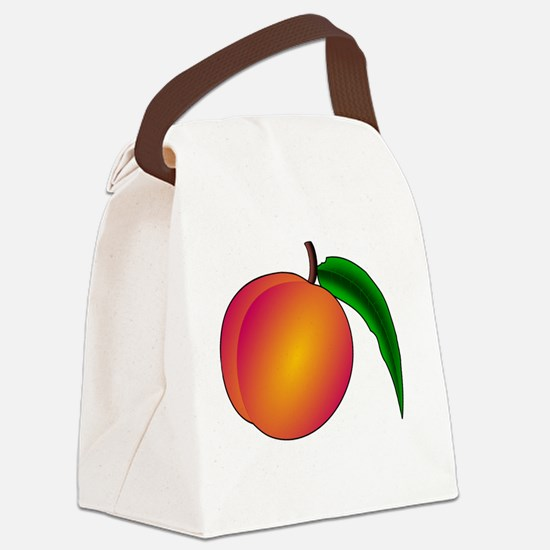 Funny Peaches Canvas Lunch Bag