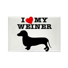 Love My Weiner Rectangle Magnet