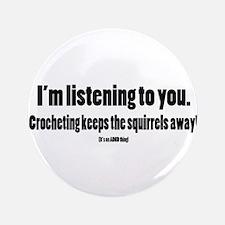 Crochet Squirrels Black Button