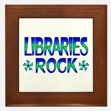 Libraries Rock Framed Tile