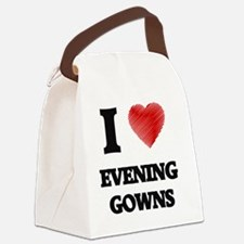 I love EVENING GOWNS Canvas Lunch Bag