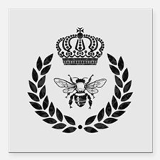 """THE FRENCH BEE Square Car Magnet 3"""" x 3"""""""