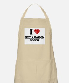 I love EXCLAMATION POINTS Apron