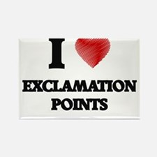 I love EXCLAMATION POINTS Magnets