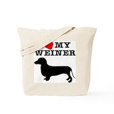 Love My Weiner Tote Bag