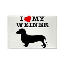 Love My Weiner Rectangle Magnet