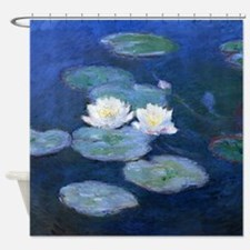 Two Water Lilies Monet Shower Curtain