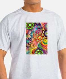 Funky Retro Pattern Abstract T-Shirt