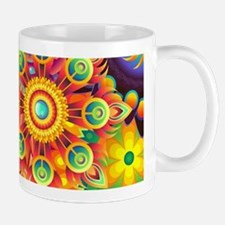 Funky Retro Pattern Abstract Mugs