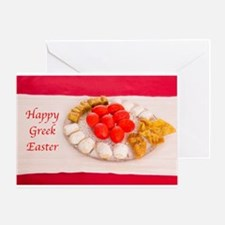 Happy Greek Easter With Greek Cookies Greeting Car