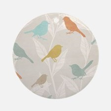 Pretty Birds Round Ornament