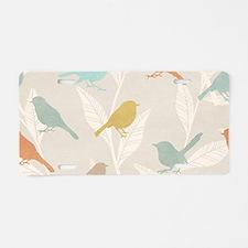 Pretty Birds Aluminum License Plate