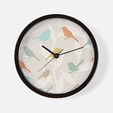 Pretty Birds Wall Clock