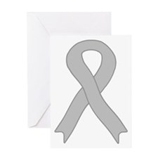 Gray Ribbon Greeting Card