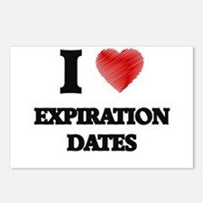 I love EXPIRATION DATES Postcards (Package of 8)