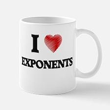 I love EXPONENTS Mugs