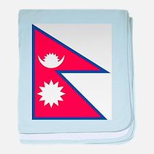 Flag of Nepal - ??????? ????? baby blanket