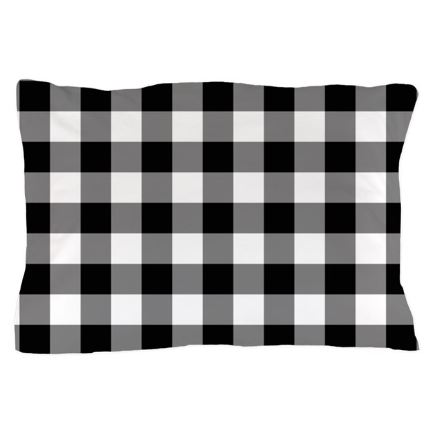 Black white gingham pillow case by decorativedecor for White craft pillow cases