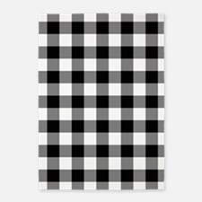 Black White Gingham 5'x7'Area Rug