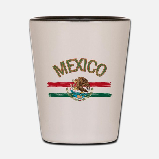 Mexican Mexico Flag Shot Glass