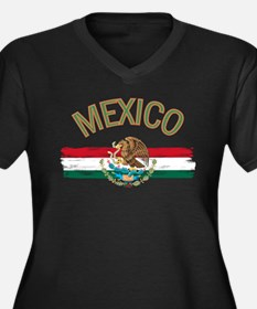Mexican Mexi Women's Plus Size V-Neck Dark T-Shirt