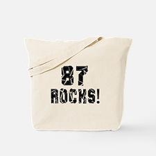 87 Rocks Birthday Designs Tote Bag
