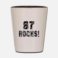 87 Rocks Birthday Designs Shot Glass