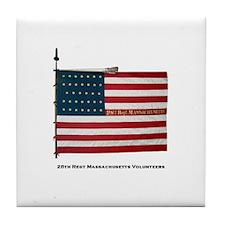 28th Massachusetts National color Tile Coaster