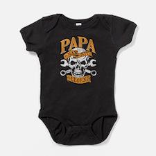 Cute Papa the man the myth the legend Baby Bodysuit