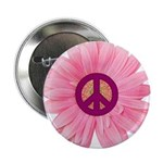 "Pink Peace Daisy 2.25"" Button"