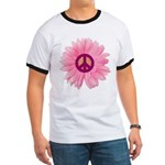 Pink Peace Daisy Ringer T