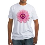 Pink Peace Daisy Fitted T-Shirt