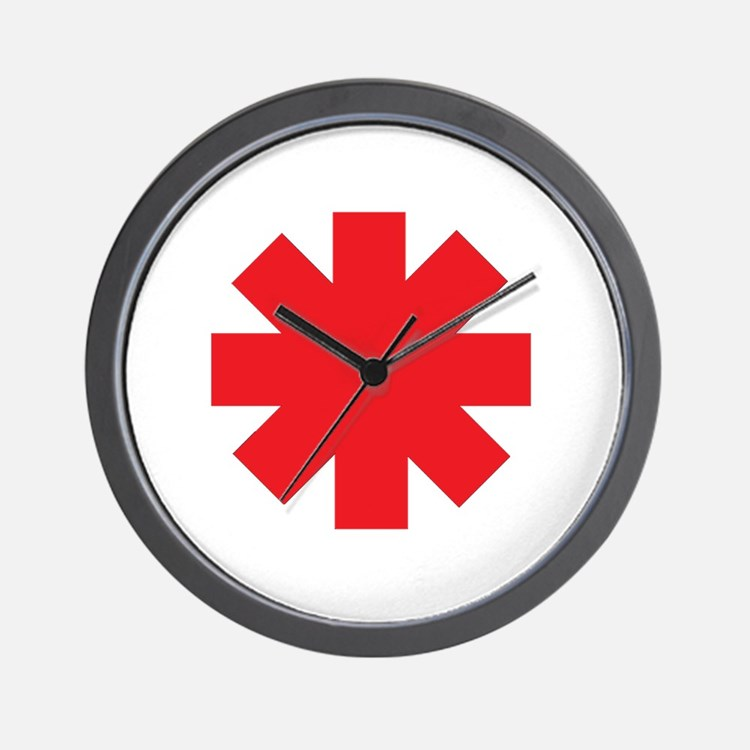 Cute Red hot chili peppers Wall Clock