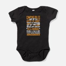 Camping Rules Baby Bodysuit
