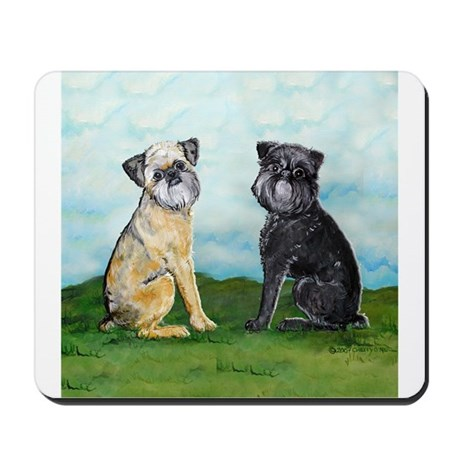 Brussels Griffon Best Friends Mousepad