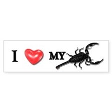 """I LOVE MY SCORPION!"" Bumper Bumper Sticker"