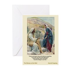 WomanattheWell-Copping Greeting Cards (Pk of 10)