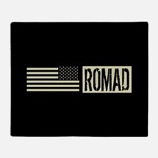 U.S. Air Force: ROMAD (Black Flag) Throw Blanket