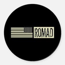 U.S. Air Force: ROMAD (Black Flag Round Car Magnet