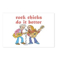 Rock Chicks Do It Better Postcards (Package of 8)