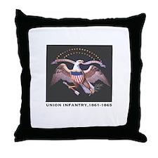 Union Infantry Throw Pillow