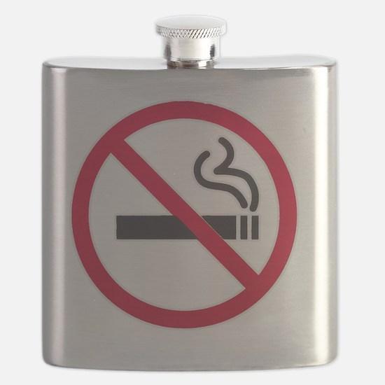 No Smoking Sign Flask