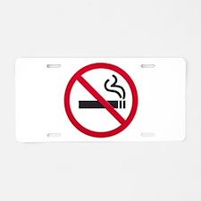 No Smoking Sign Aluminum License Plate