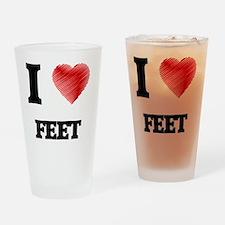 I love Feet Drinking Glass