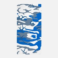 Ice Water Blue Camo Beach Towel