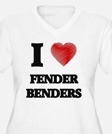I love Fender Benders Plus Size T-Shirt