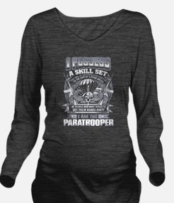 i am the Paratrooper Long Sleeve Maternity T-Shirt