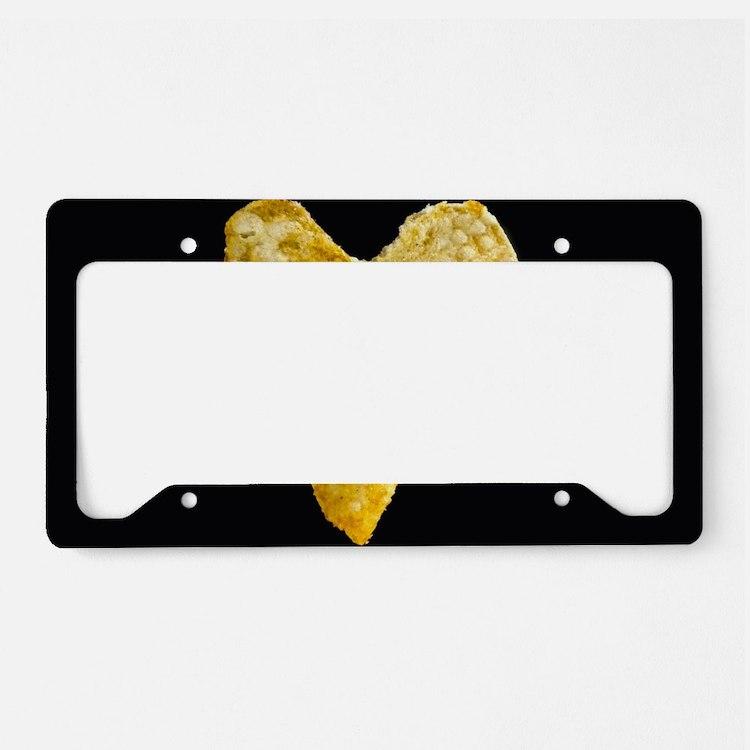 Heart Shaped Potato Chip License Plate Holder